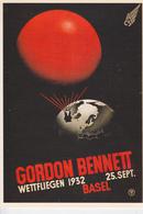 """REPRODUCTION D'une Affiche :  Coupe Aéronautique """" Gordon Bennet """" Basel 1932 - Illustratoren & Fotografen"""