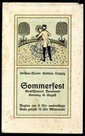 Bonorand Etablissement Leipzig, Um 1900, Einladung Zum Sommerfest D. Artisten-Verein - Feiern & Feste