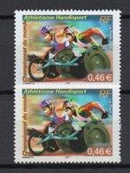 - FRANCE Variété N° 3477a - 0,46 € Athlétisme Handisport 2002 - DOUBLE IMPRESSION - Signé CALVES - Cote 70 EUR - - Variétés Et Curiosités