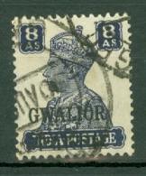 India - Gwalior: 1942/45   KGVI 'Gwalior' OVPT   SG127    8a    Used - Gwalior