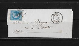 1865 FRANKREICH → Brief Le Blanc Nach La Chatre - 1863-1870 Napoléon III Lauré