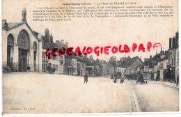 45- COURTENAY - LA PLACE DU MARCHE  1 ERE VUE  - LOIRET - Courtenay