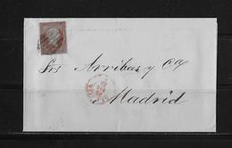 1855 SPANIEN → Brief Valencia Nach Madrid - Lettres & Documents