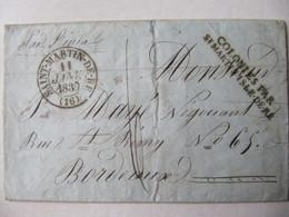 LETTRE  SAINT MARTIN DE RE  1839  BON ETAT - Marcophilie (Lettres)