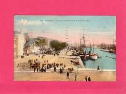 56 Morbihan, Lorient, Le Bassin De Commerce Et Le Cours Des Quais, Animée, Colorisée, Attelages, 1929, (L. Nel) - Lorient