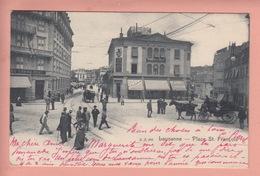 OUDE POSTKAART ZWITSERLAND  -  SCHWEIZ -    LAUSANNE - PLACE ST. FRANCOIS - GEANIMEERD 1900'S - VD Vaud