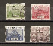 Japon - Perfins - Petit Lot De 4° - Vrac (max 999 Timbres)
