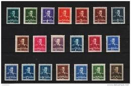 1944 -ROI MICHEL MI No 797/816  MNH - 1918-1948 Ferdinand, Carol II. & Mihai I.
