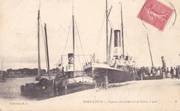 PORT LOUIS  -  VAPEURS DE LORIENT ET DE GROIX A QUAI - Port Louis