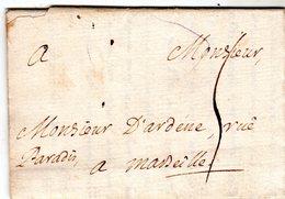 """Lettre Envoyée De """" LION """" 1735 à Marseille - Marcofilie (Brieven)"""