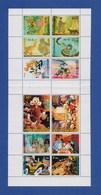 Walt Disney Entenhausen Block Mit 12 Briefmarken Donald Duck, Goofy, Micky Mouse, Roger Rabbit (1) - Disney