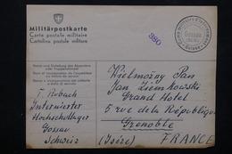 FRANCE / SUISSE - Carte En FM Du Camp D' Internés De Gossau ( Suisse ) Pour Grenoble En 1941 - L 22246 - Marcophilie (Lettres)
