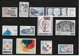 France Timbres De 1988  N°2545 A 2556 Neufs ** Vendu A La Valeur Faciale - Ungebraucht