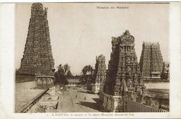 CPA - INDE - Mission Du MADURE -A Madura Le Temple De La Déesse Ninatchi Femme De Siva - Inde