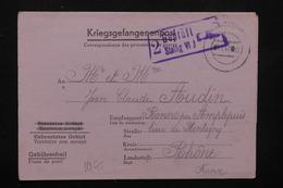 FRANCE / ALLEMAGNE - Formulaire Du Camp De Prisonniers Stalag VI J Pour Ronno En 1942 - L 22250 - Poststempel (Briefe)