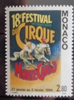 MONACO 1994 Y&T N° 1923 ** - XVIIIe FESTIVAL INTERN. DU CIRQUE DE MONTE CARLO - Unused Stamps
