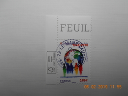 FRANCE 2018 Déclaration Des Droits De L'Homme 1948-2018 Beau Cachet Rond Sur TN Coin De Feuille - France