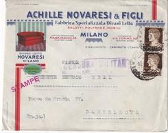 ITALIE  1939 LETTRE CENSUREE DE MILAN POUR BARCELONE - Storia Postale