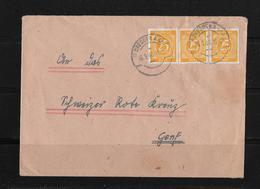1946 ALLIIERTE BESETZUNG → (SBZ) Sowjetische ZoneBrief Dresden Nach Genf/Schweiz - Zone Soviétique