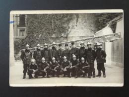 Photo Ancienne Sapeurs Pompiers - Métiers