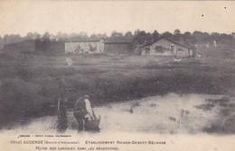 Audenge - Etablissement Ricard-Bebest-Béchade - Pêche Des Sangsues Dans Le Réservoirs - France