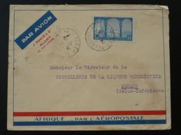 Lettre Par Avion Aeropostale Algérie Pour Fécamp 1932 - Algérie (1924-1962)