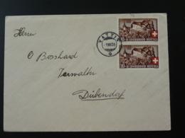 Lettre Cover Oblit. Vattis Confédération Helvétique 1939 - Lettres & Documents