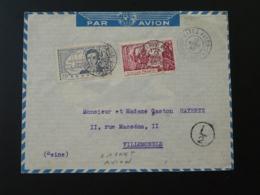 Lettre Par Avion Air Mail Cover Oblit. Kayes Avion Soudan 1940 - Storia Postale