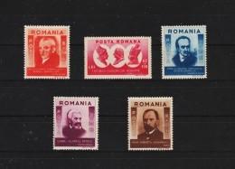 1943 - Hommes Celebres De Transylvanie Mi 769/773  MNH - 1918-1948 Ferdinand, Carol II. & Mihai I.