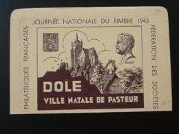 Carte Lettre Thème Pasteur Journée Du Timbre Dole Jura 1943 - Louis Pasteur
