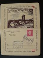 Carte Lettre Thème Pont Bridge Journée Du Timbre Lyon 1944 N° 85279 - Frankreich