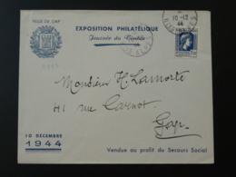 Lettre Journée Du Timbre Gap Hautes Alpes 1944 - Storia Postale
