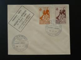 Lettre  Premiere Visite D'un Président En Afrique Noire Saint Louis Du Senegal 1947 - Lettres & Documents