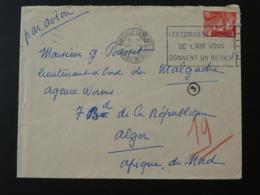 Lettre Marianne De Gandon Pour L'Algérie Flamme Armée De L'Air Marseille Capucines 1951 - Marcophilie (Lettres)