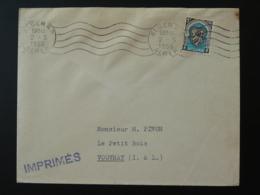 Lettre Tarif Imprimés Flamme Linéaire Alger Algérie 1956 - Algérie (1924-1962)
