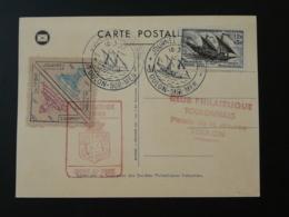 Carte Journée Du Timbre Avec Vignette Toulon Var 1957 - Expositions Philatéliques