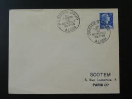 Lettre FDC Marianne De Muller Mise En Service Des Timbres De Métropole En Algérie 1958 - Algérie (1924-1962)