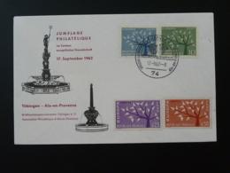 Lettre Jumelage Philatélique Tubingen Aix En Provence Europa 1962 - Europa-CEPT