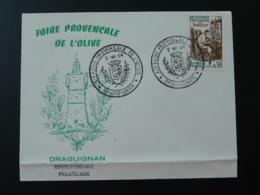 Lettre Cover Foire Provencale De L'olive 83 Draguignan Var 1964 - Marcofilie (Brieven)