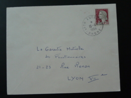 Oblitération Lyon Entrepot Sur Lettre Marianne De Decaris 1964 - Marcophilie (Lettres)