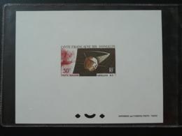 Epreuve De Luxe Deluxe Proof Satellite A1 Espace Space Cote Des Somalis 1966 - Lettres & Documents