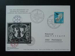 Carte Commemorative Card Pro Juventute Journée Du Timbre Tag Der Briefmarke Basel Suisse 1966 - Pro Juventute