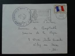 Lettre Franchise Militaire Avec Cachet Infanterie De Marine Granville 50 Manche 1968 - Military Postmarks From 1900 (out Of Wars Periods)