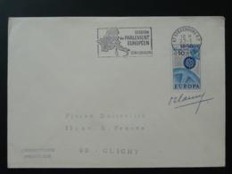 Flamme Concordante Europa Cept Avec Signature Du Graveur Cami Strasbourg 1968 - Europa-CEPT