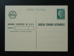 Entier Postal TSC Marianne De Cheffer Bureau Commun Automobile 1969 - Entiers Postaux