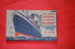 """PAQUEBOT """" ILE DE FRANCE """" / Carnet Complet De 18 Cartes - Paquebots"""