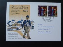 Carte Commemorative Card Pro Patria Journée Du Timbre Tag Der Briefmarke Yverdon Suisse 1969 - Pro Patria