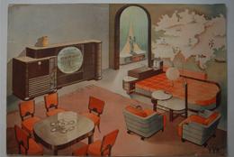 Mobilier Deco Meubles Decoration 6 Planches Anciennes Grand Format 28 X 60 Cm Deco Furniture 6 Old Plates Big Size - Meubles