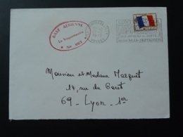 Lettre Franchise Militaire Cachet Base Aérienne 902 Flamme Contrexeville 88 Vosges 1972 - Marcophilie (Lettres)