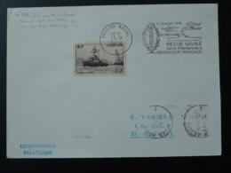 Flamme Concordante Sur Lettre Revue Navale Toulon Naval 1976 - Postmark Collection (Covers)